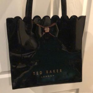 Ted Baker patent scalloped tote